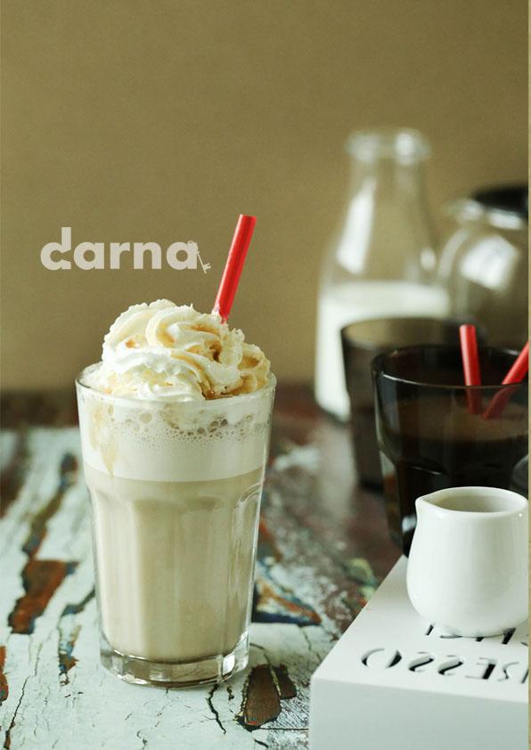 Iced caramel frappaccino