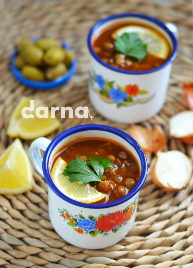 Red lentil soup Darna magazine